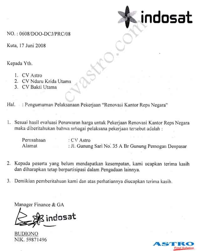 Profile Kontraktor Bali : CV. ASTRO