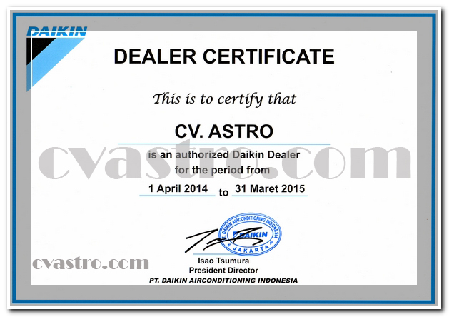 Dealer Daikin 2014-2015