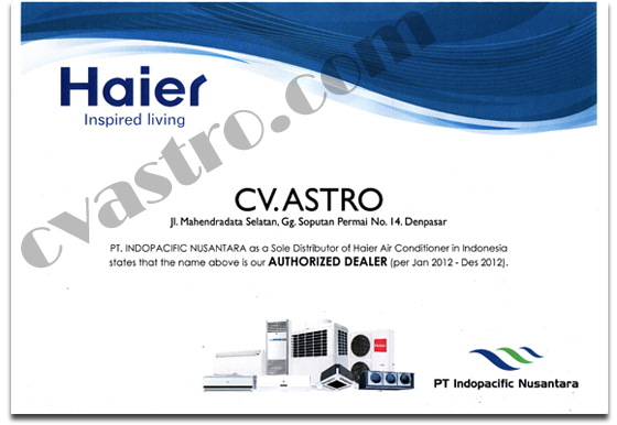 Dealer AC Haier Indonesia