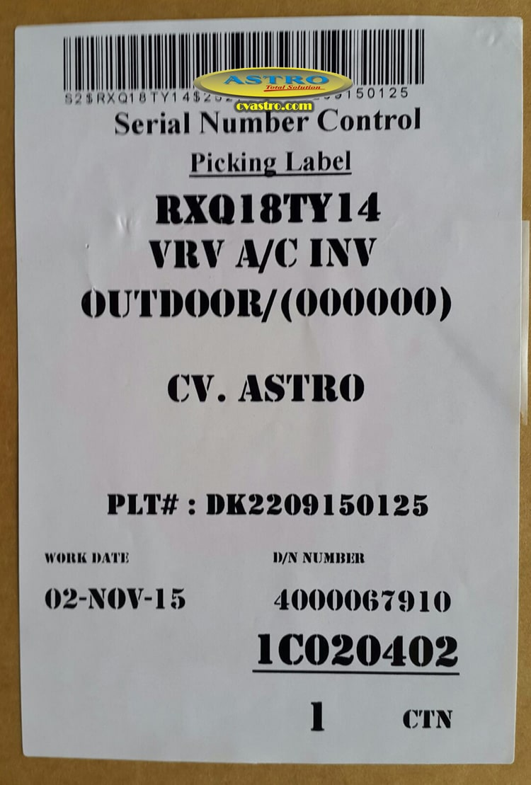 Unit AC VRV Daikin Bali