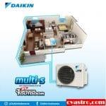 Multi-S 3 Connection (3 Indoor 1 Outdoor) Produk Terbaru Daikin 2017 – 2018