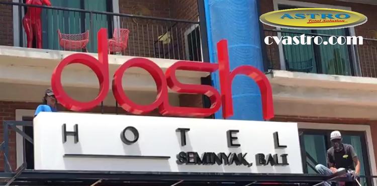 Signage Dash Hotel Seminyak Bali