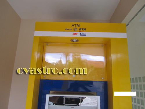 casing atm booth atm papan nama neon box atm bank btn